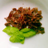 Portion Trockelfleisch, als Biltong zubereitet