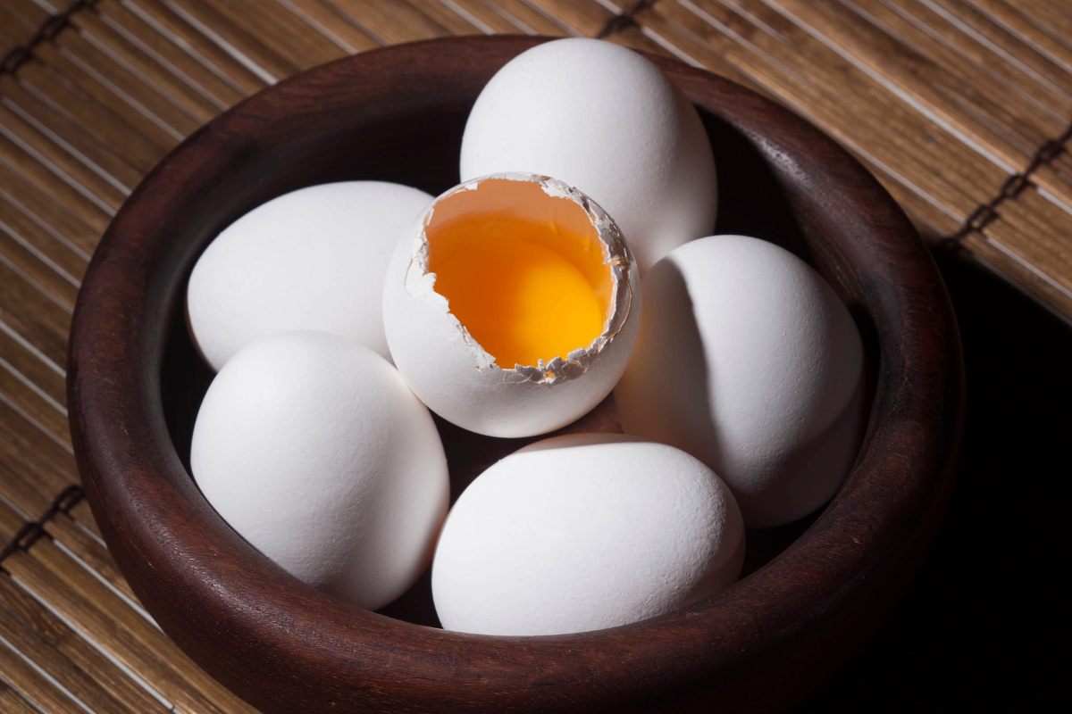 Eine Schüssel Eier
