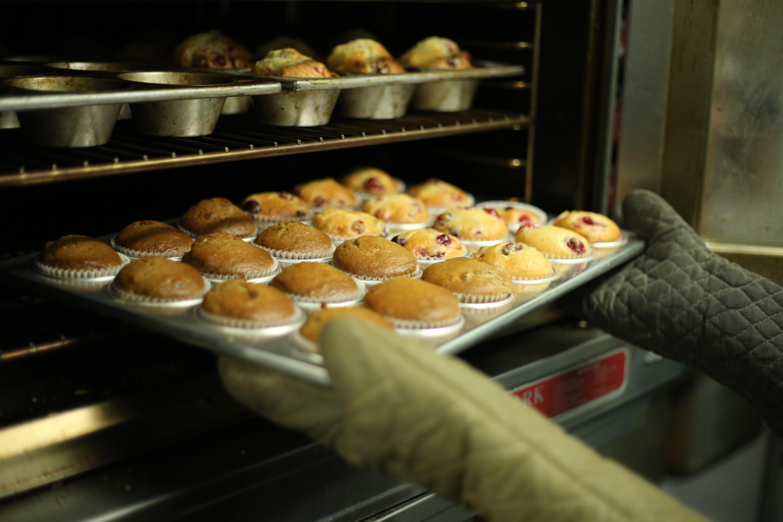 Muffins im Gasbackofen