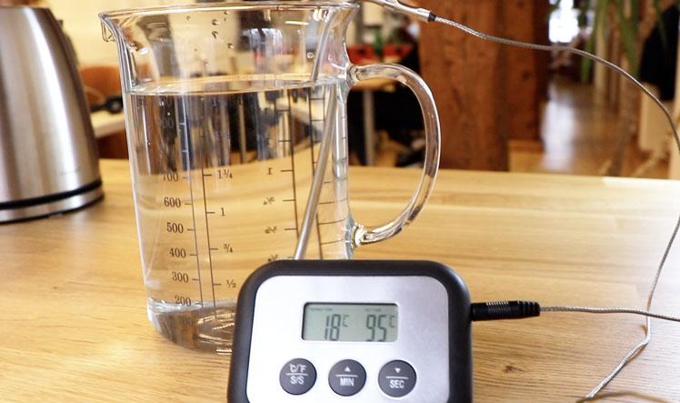 Wassertemperatur im Test