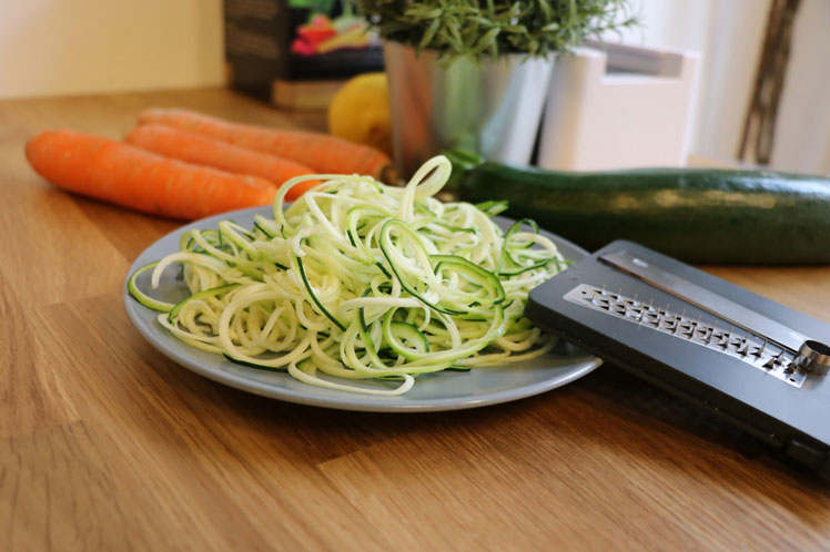 Spiralschneider test lurch zucchini