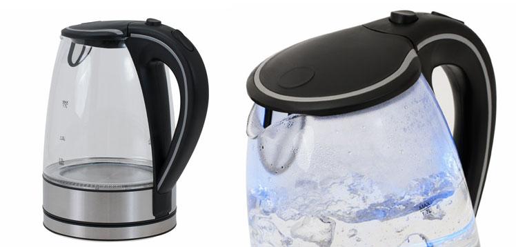deuba wasserkocher guenstig aus glas und edelstahl