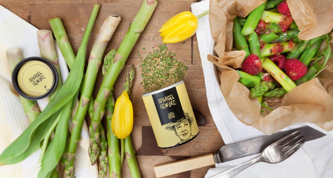 Einfaches Rezept für einen Himbeer-Spargel-Salat