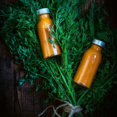 Möhren-Ingwer-Zitrone-Shots
