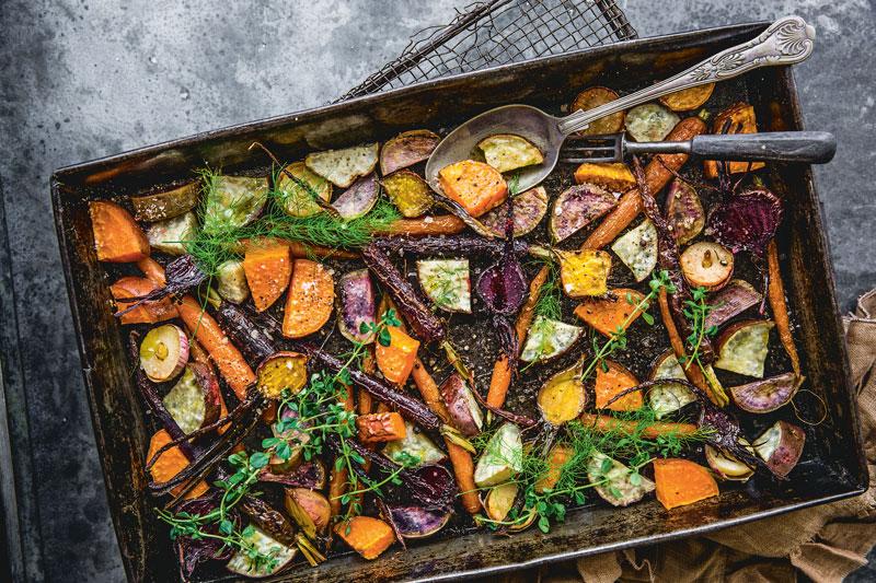 Auf Vorrat Kochen: Rezept für perfektes Ofengemüse