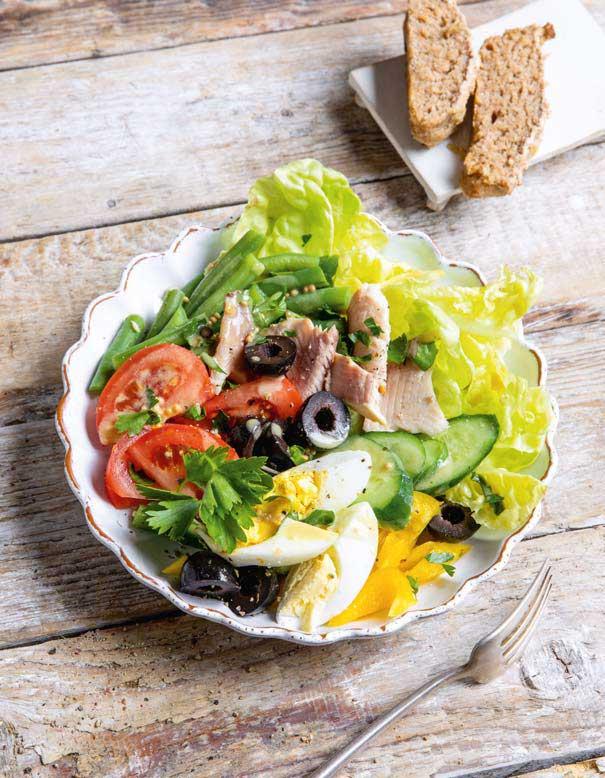 Rezept für Sommersalat mit Forelle: Gesund und lecker - Küchentipps